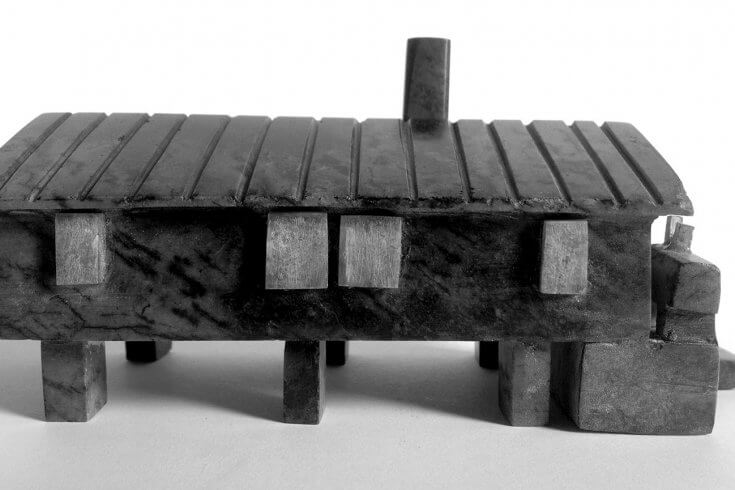 a sculpture of a house in the arctic