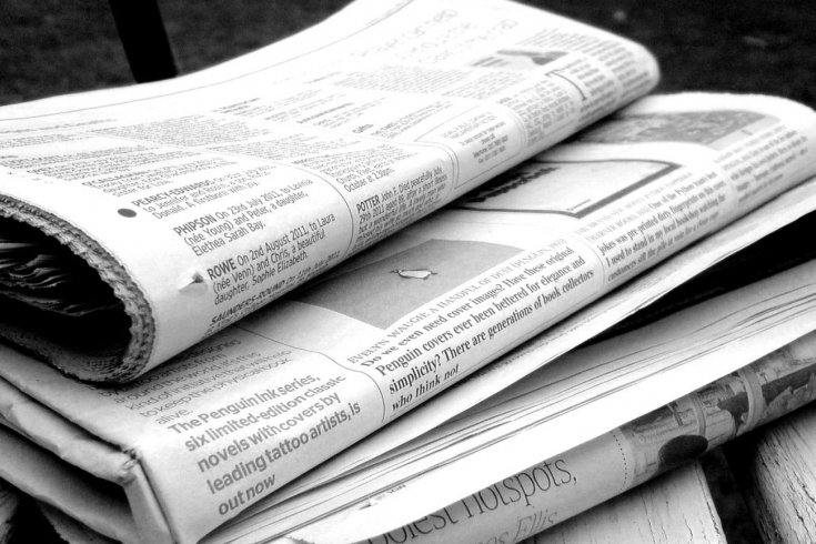 Photograph of newspapers by Jon S