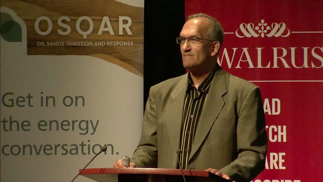 Video still of Chris Henderson from The Walrus Talks Energy