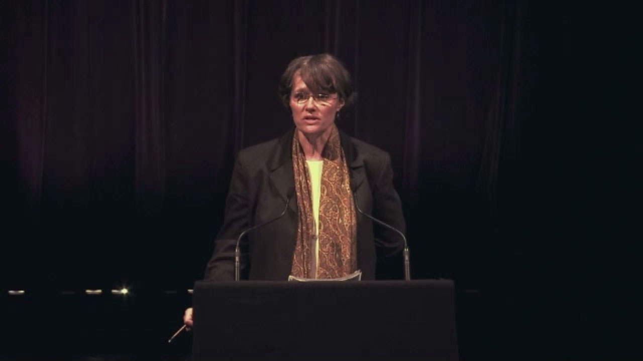 Video still of Anne Legace Downson from The Walrus Talks The Art of Cultural Diversity