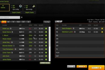 Screenshot of DraftKings video