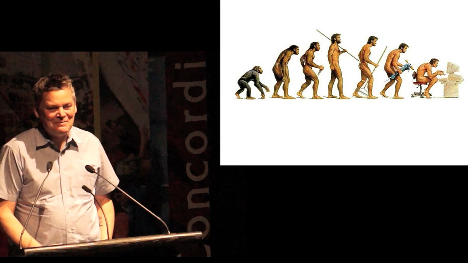 Video still of Mark Kingwell from The Walrus Talks Being Human