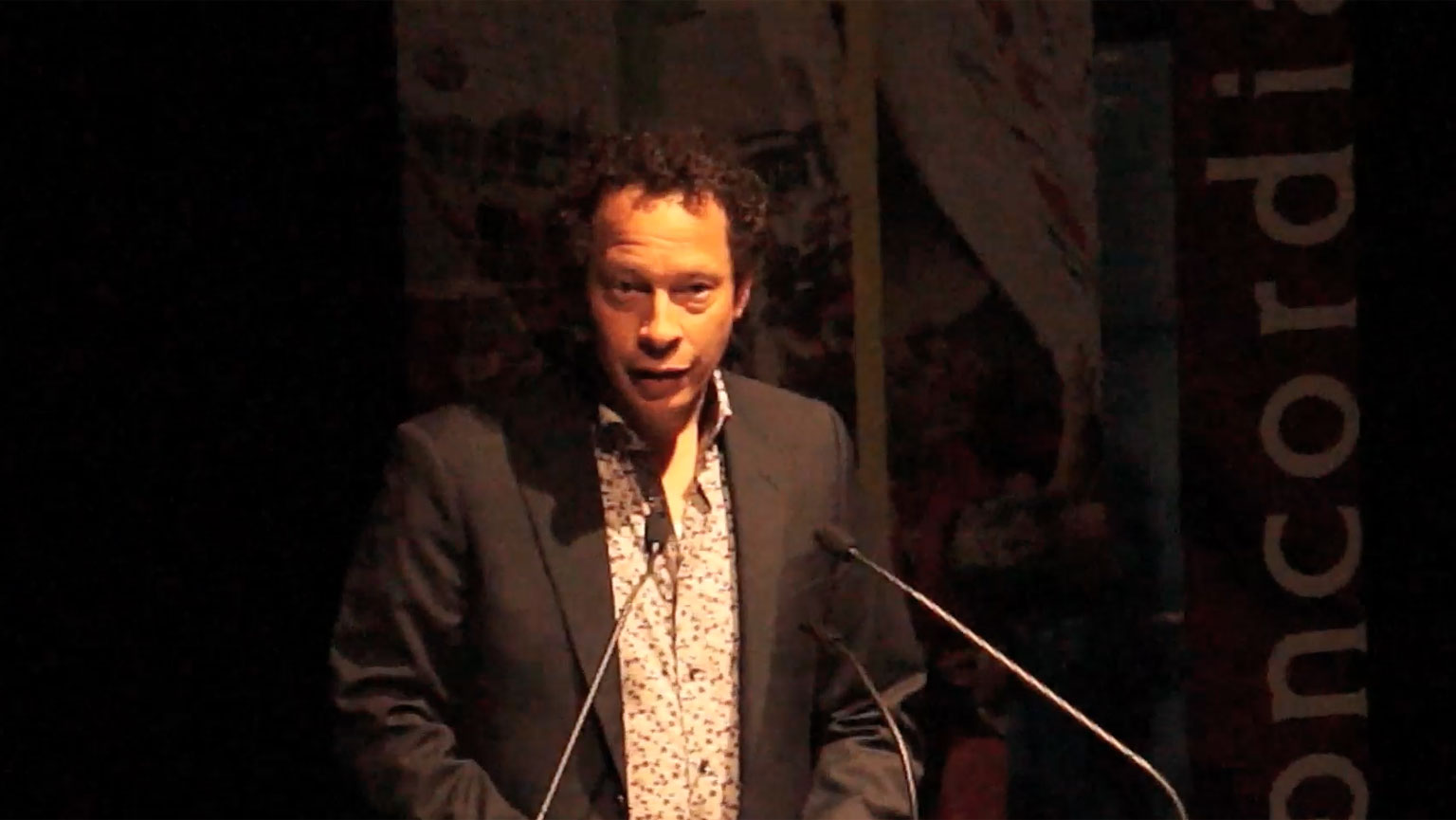 Video still of Lawrence Hill from The Walrus Talks Being Human