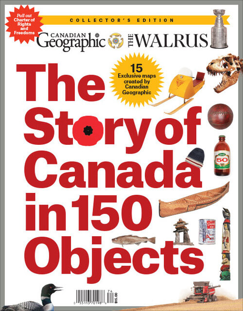 The cover of The Story of Canada in 150 objects