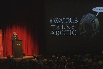 Video still of James Raffan from The Walrus Talks Arctic