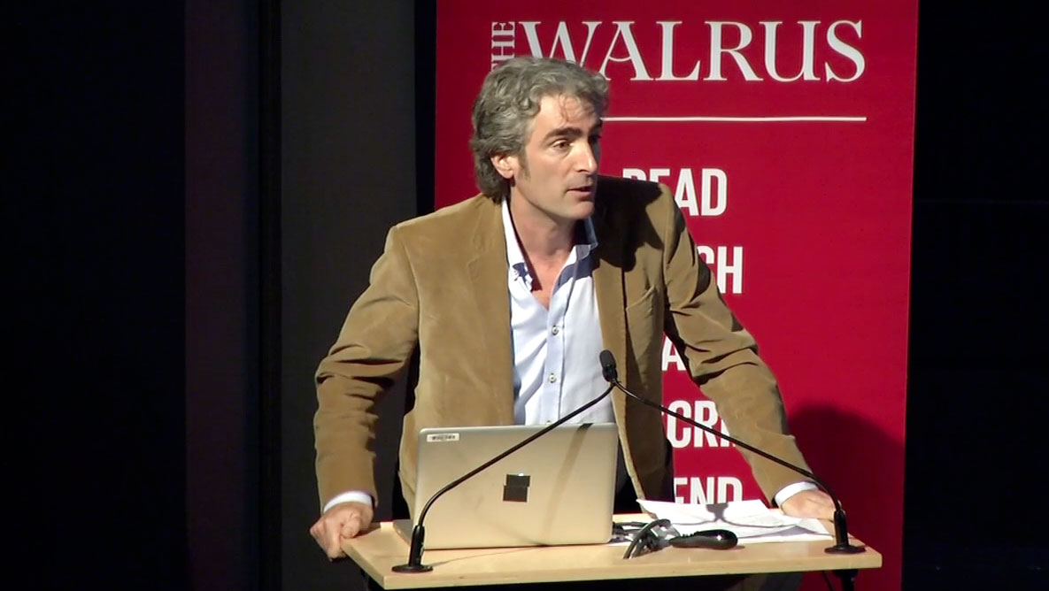 Video still of Tom Rand from The Walrus Talks Energy