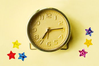 clock painted gold
