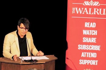 Video still of Jeffrey Remedios from The Walrus Talks Experimentation
