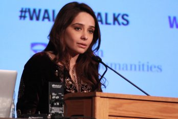 Video still of Juggun Kazim from The Walrus Talks Creativity at Western University