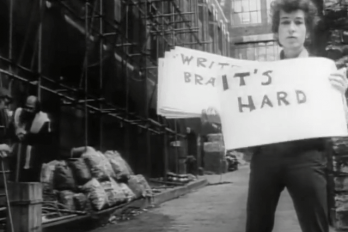 Screenshot from Subterranean Homesick Blues by Bob Dylan