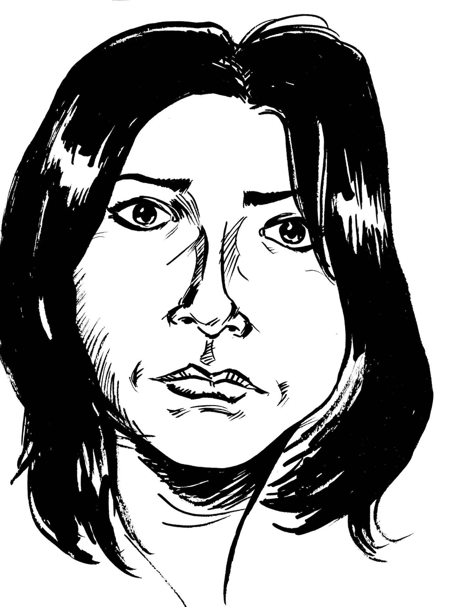 Illustration of Elaine Frieda Alook by Evan Munday