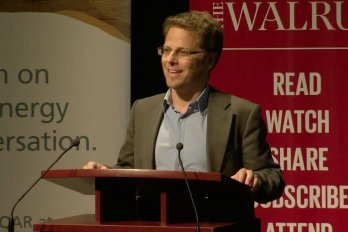 Video Still of Philippe Dunsky from The Walrus Talks Energy