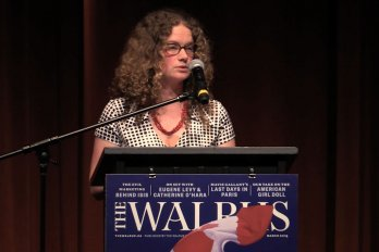 Video still of Susanna Fuller from The Walrus Talks Water