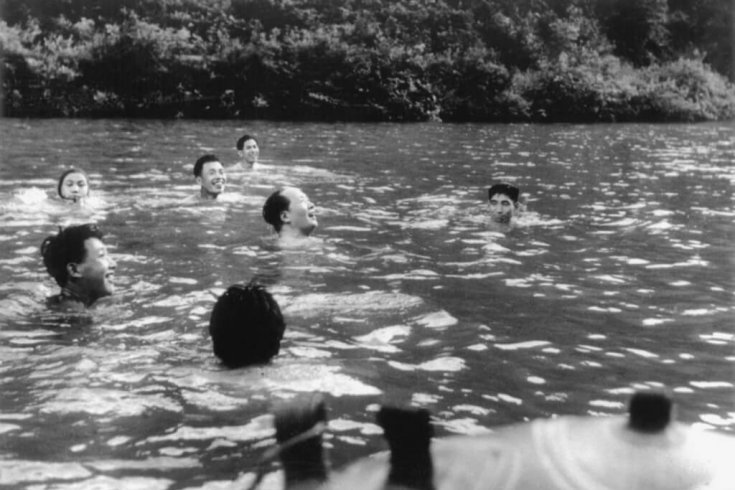Foam Photography Museum, Amsterday Chairman Mao and bodyguards share a swim and a laugh (1959)