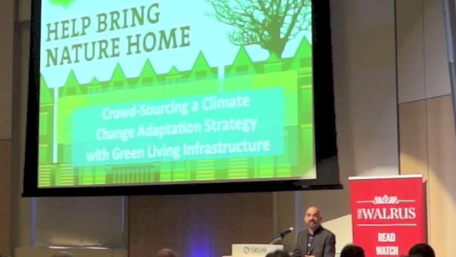Video still of Faisal Moola from The Walrus Talks Climate