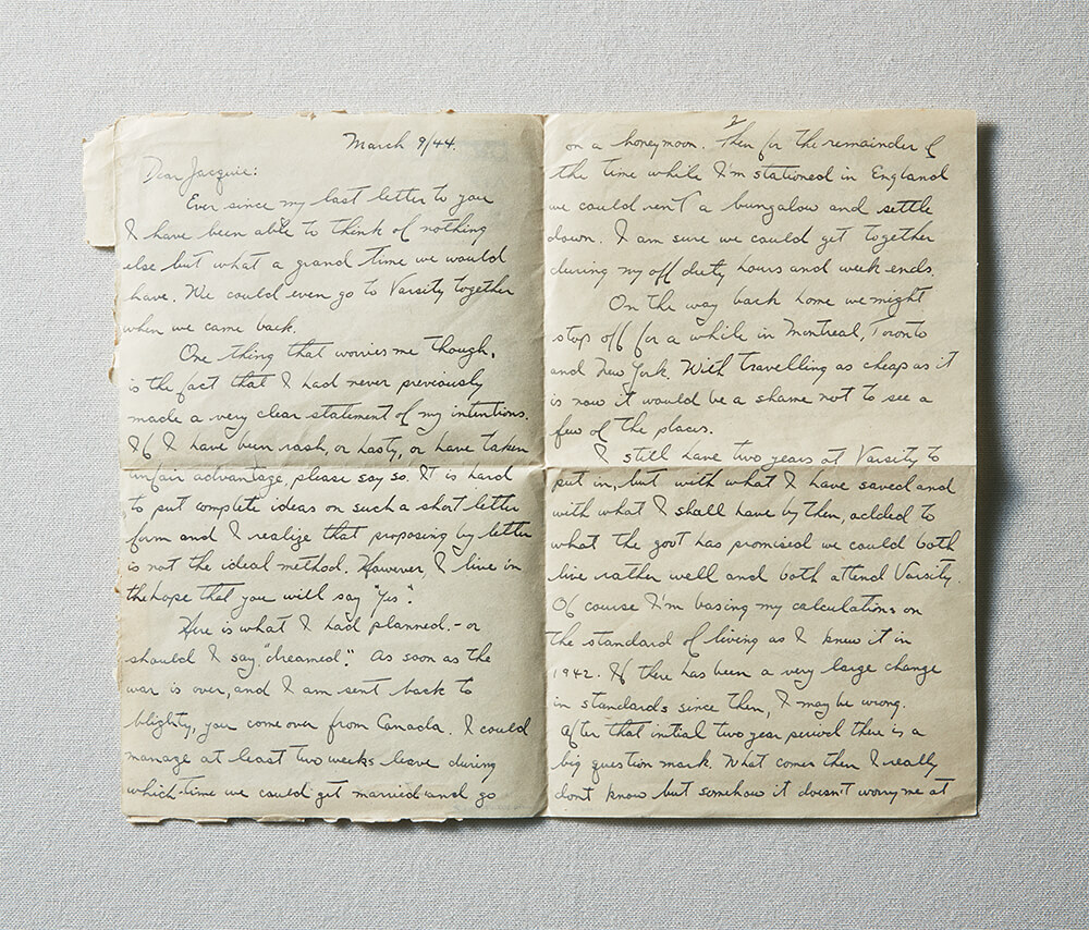 Original copy of handwritten letter