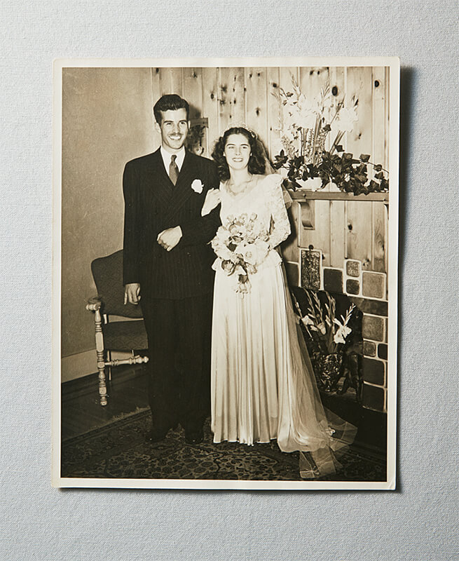 Wedding photo of Harry and Jacquie