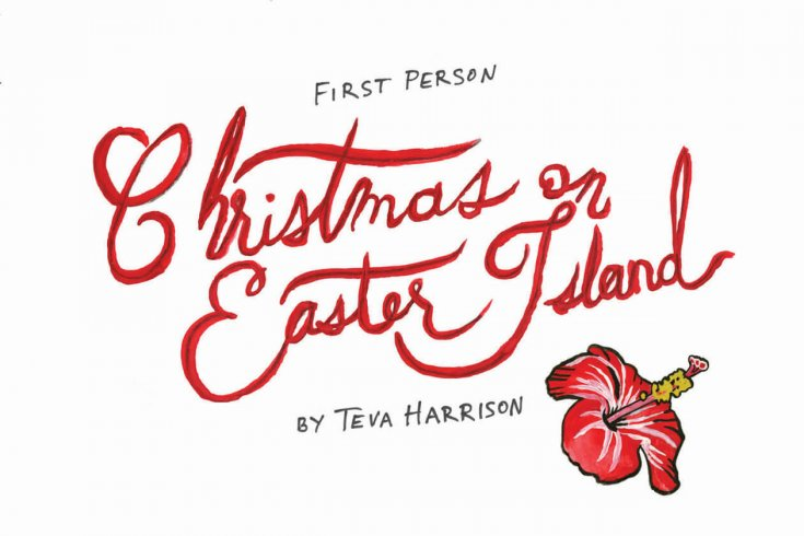 Title card for Christmas on Easter Island