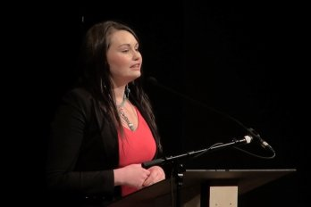 Video still of Gabrielle Fayant from The Walrus Talks How to Animate a City