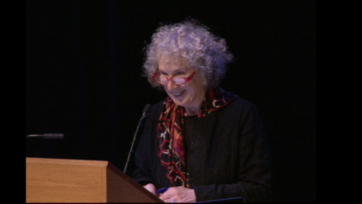 Video still Margaret Atwood from The Walrus Talks Philanthropy