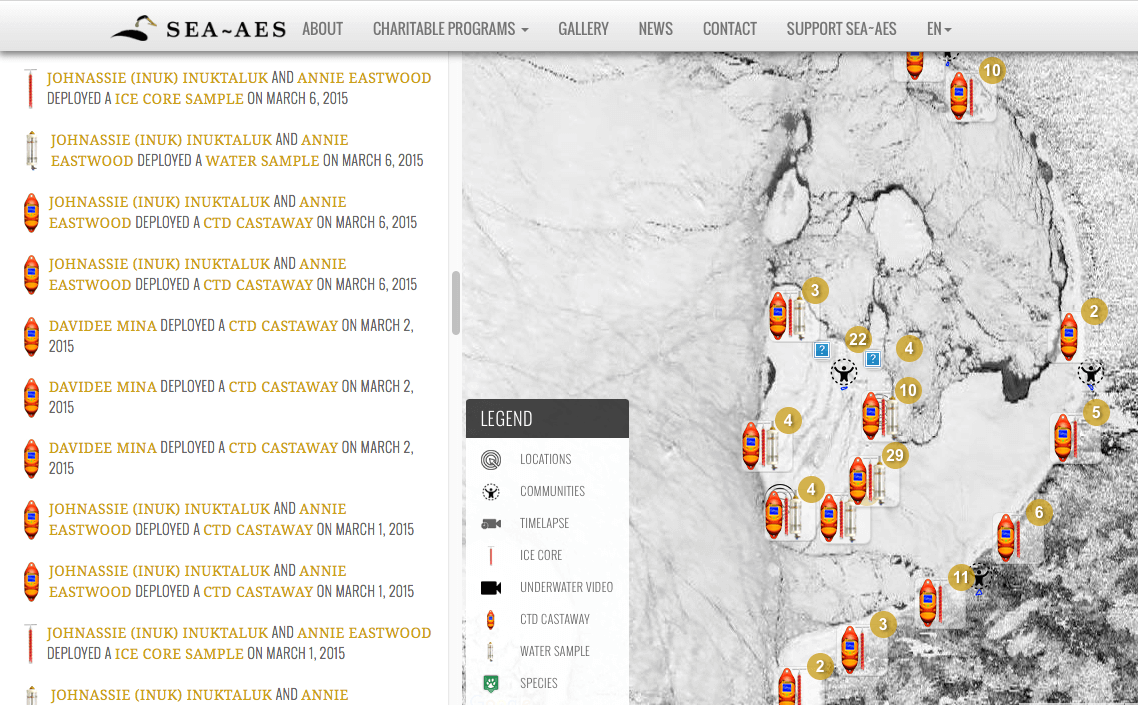 Screenshot of IK-Map