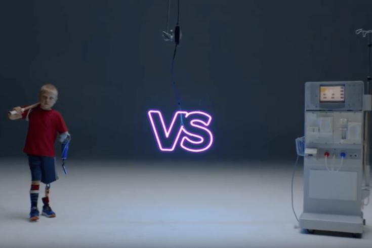 Screenshot from SickKids ad