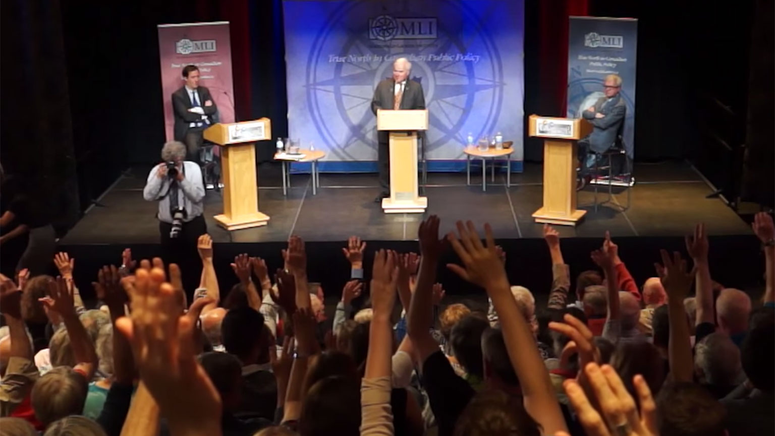 Video still from the Great Canadian Debates series
