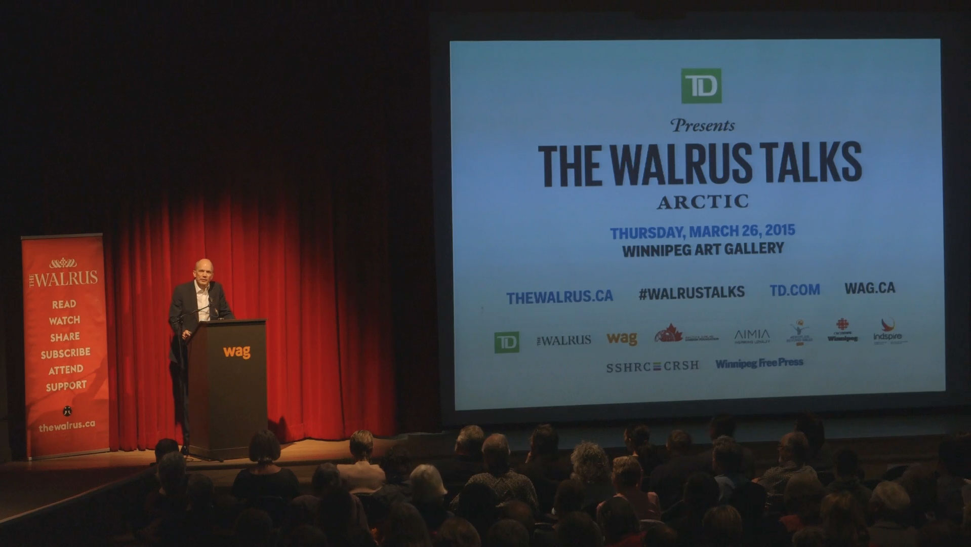 Video still of Michael Maltzan from The Walrus Talks Arctic