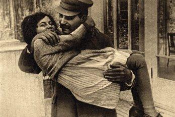 Joseph Stalin with his daughter, Svetlana Alliluyeva
