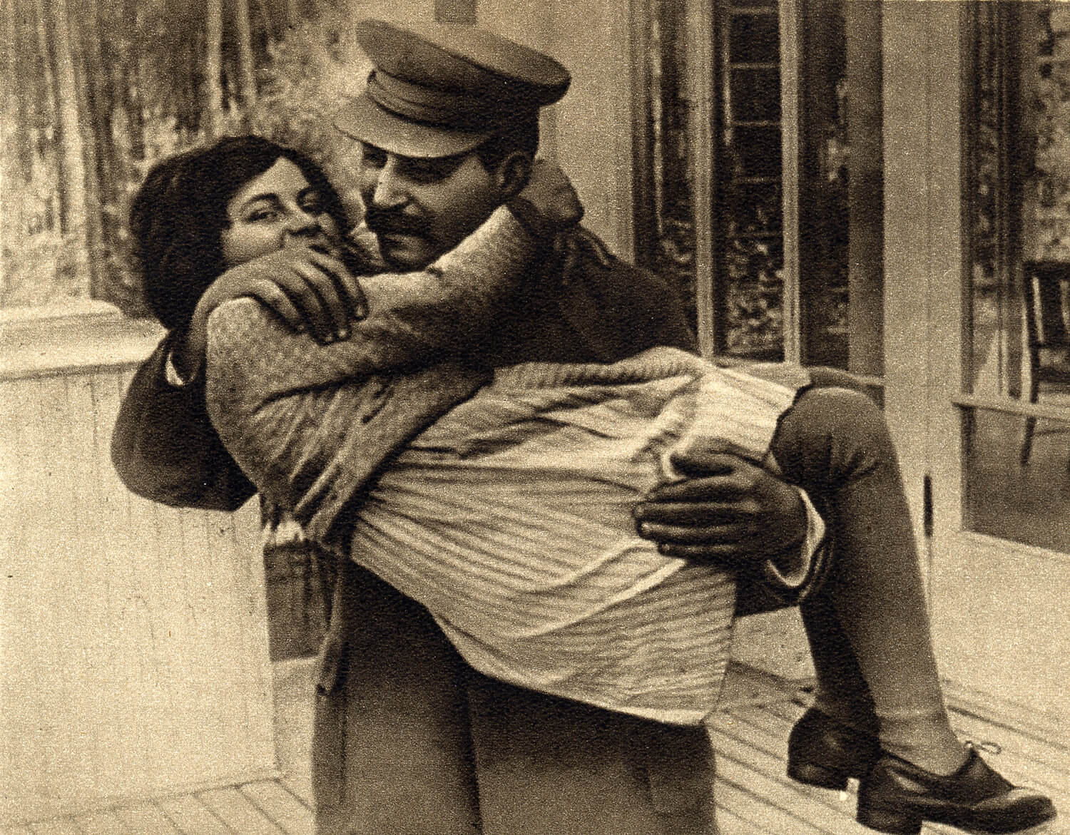 Joseph Stalin with his daughter, Svetlana Alliluyeva