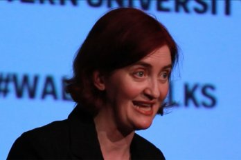Video still of Emma Donoghue from The Walrus Talks Creativity