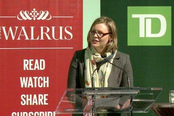 Video still of Katarina Soukup from The Walrus Talks Sustainability
