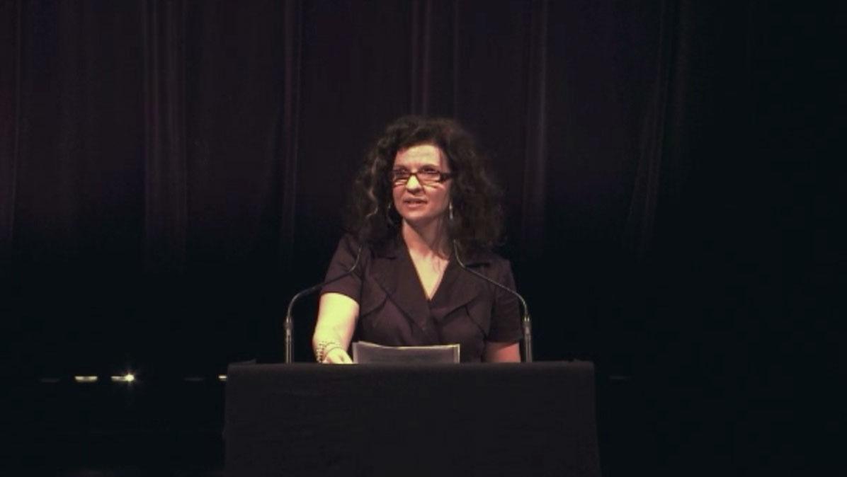 Video still of Jenny Burman from The Walrus Talks The Art of Cultural Diversity