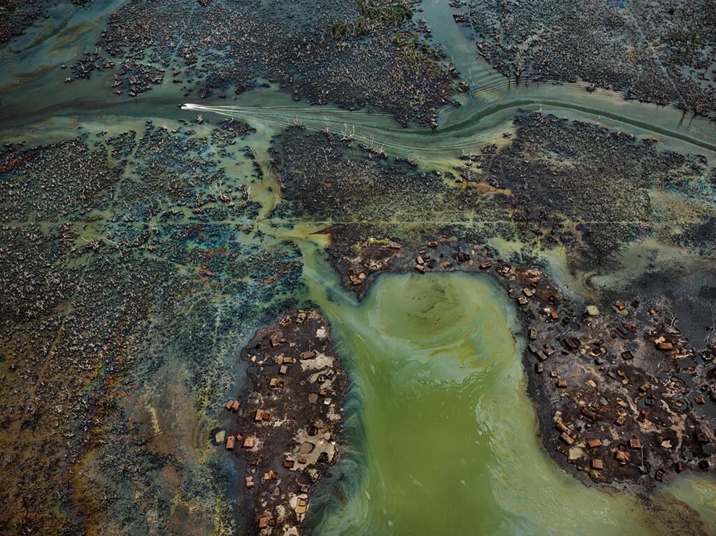 Oil Bunkering #4, Niger Delta, Nigeria, 2016, Edward Burtynsky