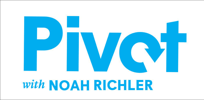 logo for pivot podcast with noah richler