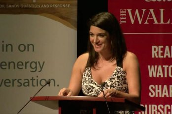 Video still of Sophie Cousineau from The Walrus Talks Energy