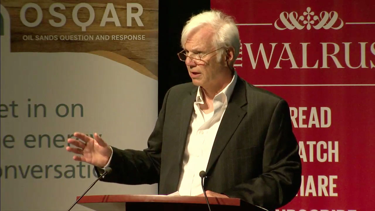 Video still of Bryne Purchase from The Walrus Talks Energy