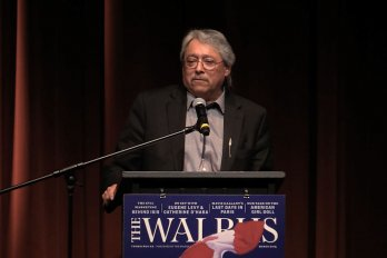 Video still of Dave Courchene from The Walrus Talks Water