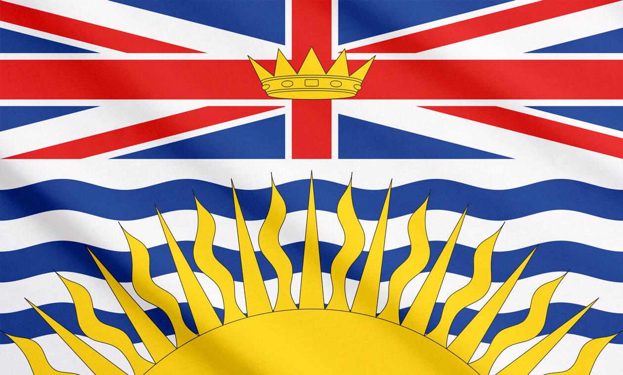 British Columbia's flag includes a rendition of the Royal Union Flag.