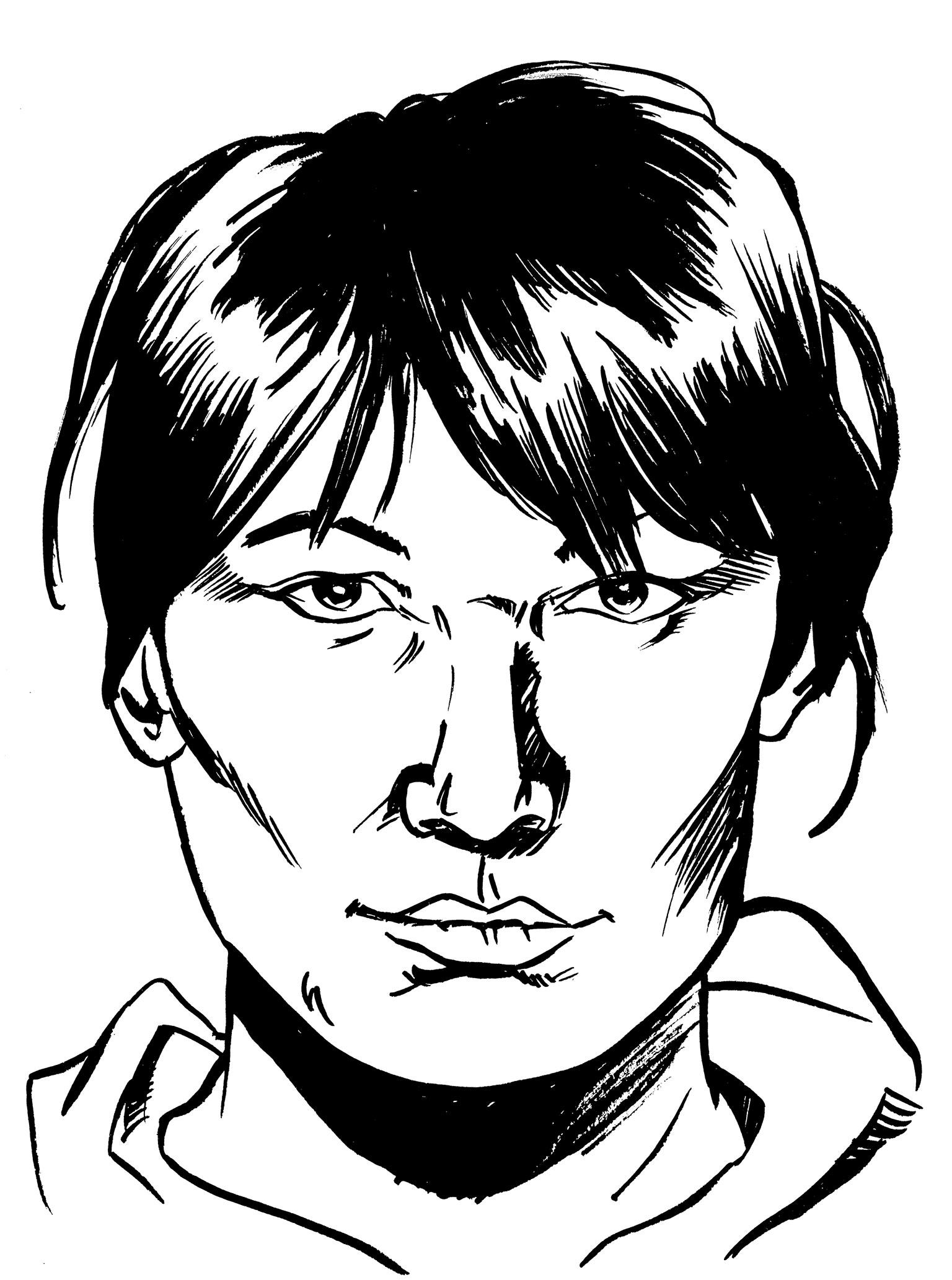 Illustration of Sharon Abraham by Evan Munday