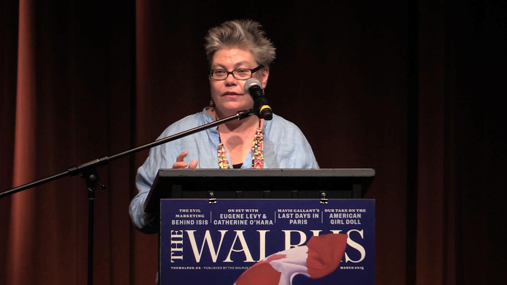 Video still of Alanna Mitchell from The Walrus Talks Water
