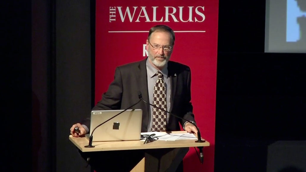 Video still of William Rees from The Walrus Talks Energy