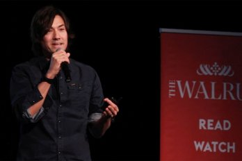 Video still of David Usher from The Walrus Talks Creativity at Western University