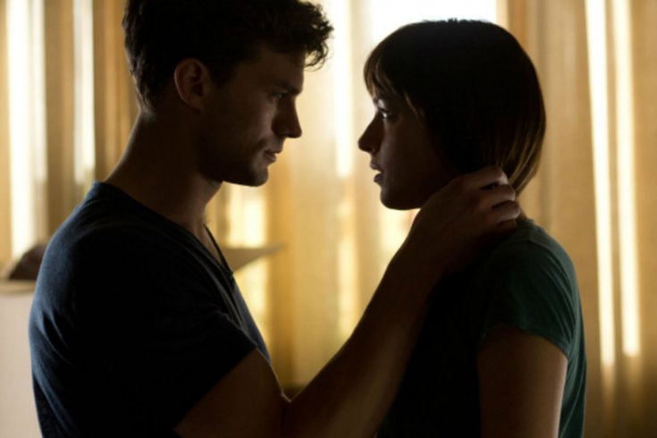 Film still from Fifty Shades of Grey