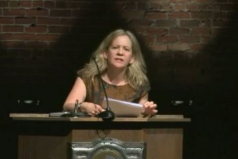 Video still of Lisa Moore from The Walrus Talks The Art of the City