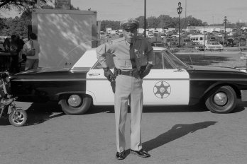 Photograph of a Barney Fife impersonator by Nathan Adams