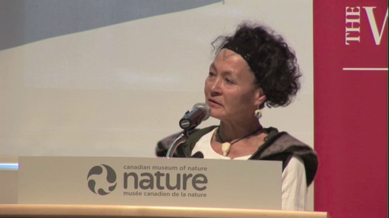 Video still of Aaju Peter from The Walrus Talks Climate