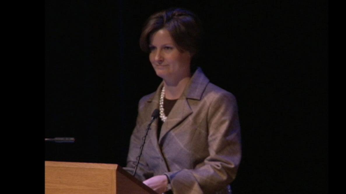 Video still of Tania Carnegie from The Walrus Talks Philanthropy