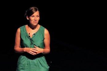 Video still of Natalie Panek at The Walrus Talks Experimentation
