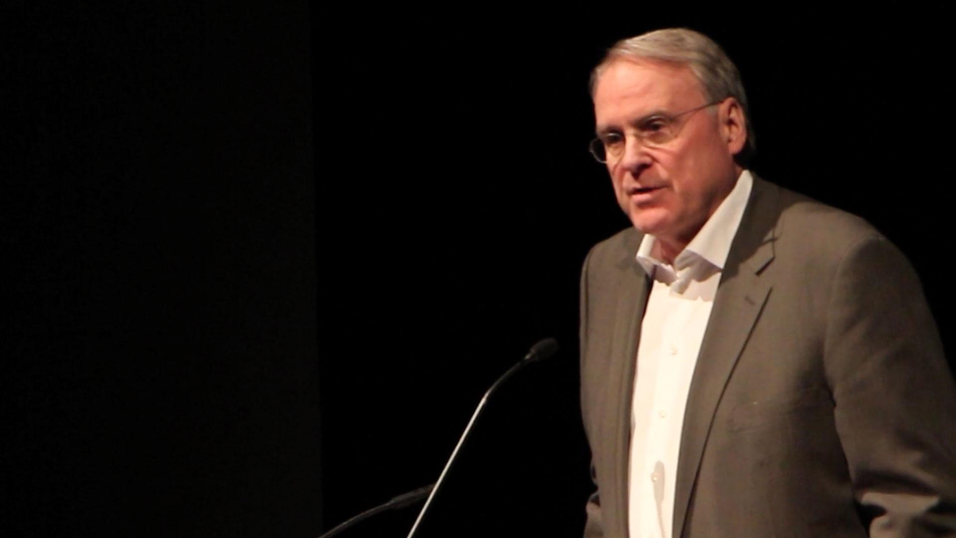 Video still of Ken Dryden from The Walrus Talks Play